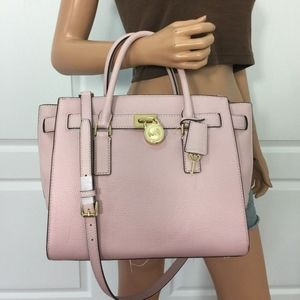 Michael kors leather nude pink satchel like new